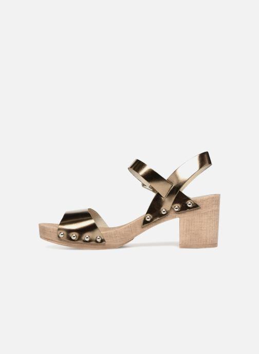 Sandales et nu-pieds Ippon Vintage SOK-METAL Or et bronze vue face