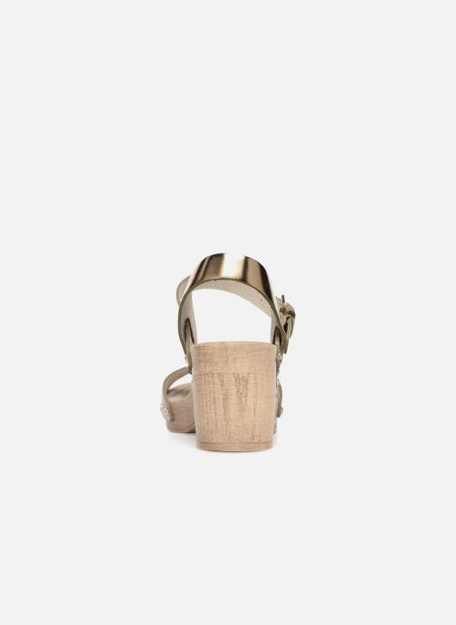 Sandales et nu-pieds Ippon Vintage SOK-METAL Or et bronze vue droite