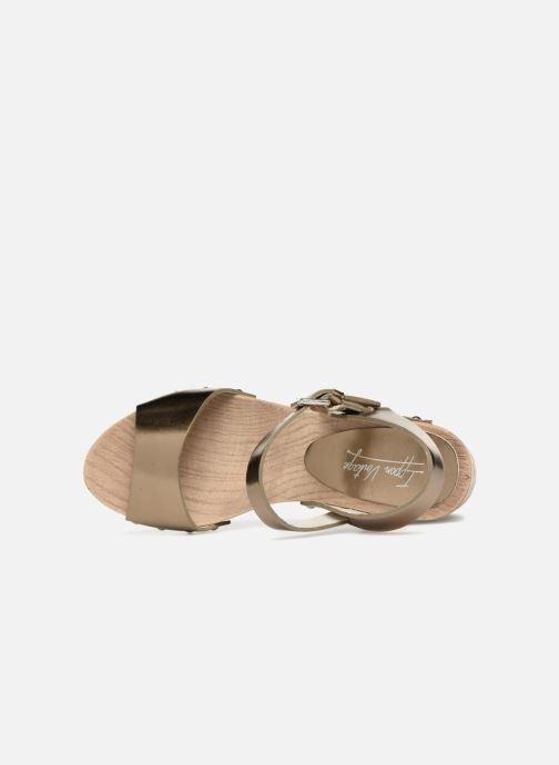 Sandales et nu-pieds Ippon Vintage SOK-METAL Or et bronze vue gauche