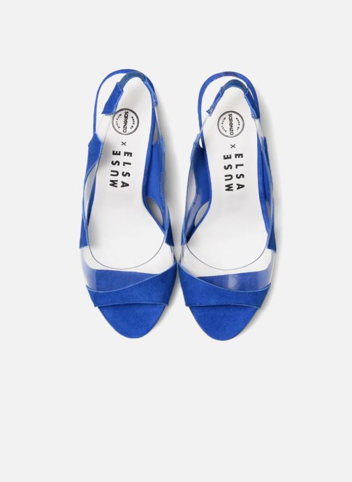 Escarpins Made by SARENZA Made by Sarenza X Elsa Muse Escarpin Bleu vue portées chaussures