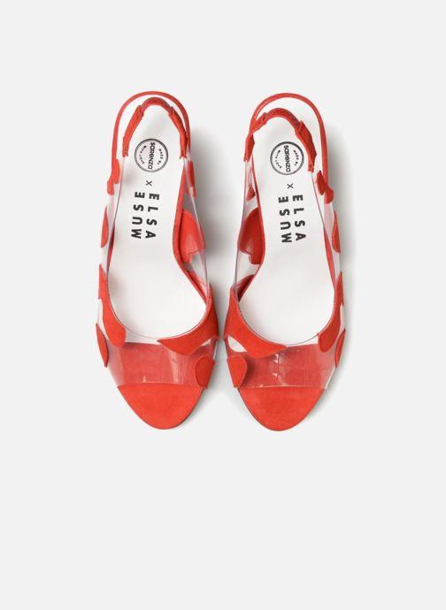 Zapatos de tacón Made by SARENZA Made by Sarenza X Elsa Muse Escarpin Rojo vista del modelo