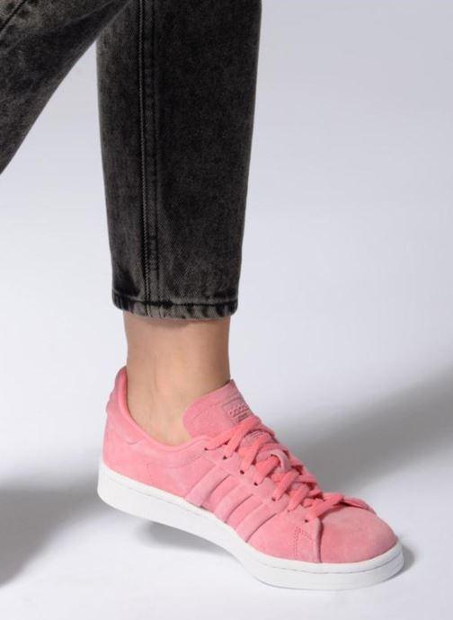 sale retailer 997a6 23827 Baskets adidas originals Campus Stitch And Turn Rose vue bas  vue portée  sac
