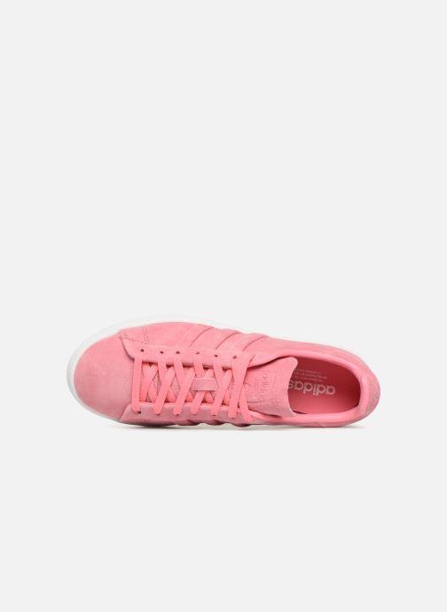 save off cf005 a4aa9 Baskets adidas originals Campus Stitch And Turn Rose vue gauche