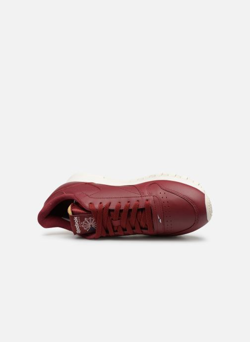 Trainers Reebok Classic Leather MU Burgundy view from the left