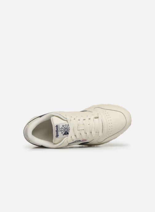 Sneaker Reebok Classic Leather MU weiß ansicht von links