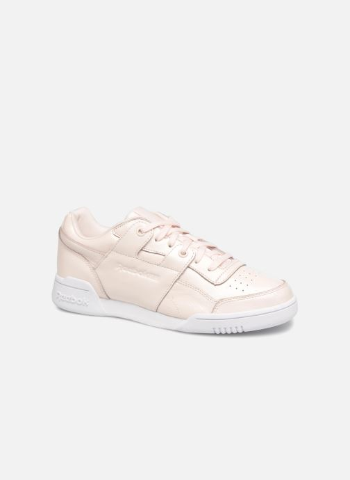 Trainers Reebok Workout Lo Plus Iridescent Pink detailed view  Pair view 6f07ac52b