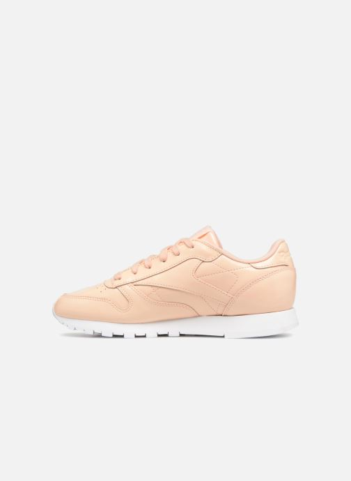 Baskets Reebok Classic Leather Patent Beige vue face