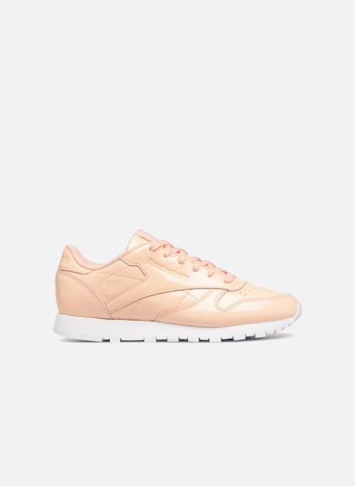 Trainers Reebok Classic Leather Patent Beige back view
