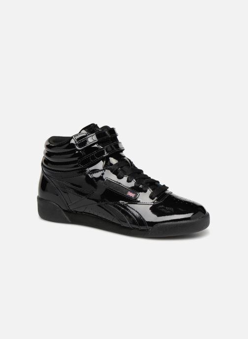 96a5edd6734a Reebok Freestyle Hi Patent Leather (Black) - Trainers chez Sarenza ...