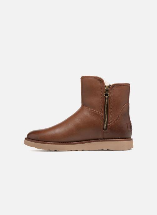 Bottines et boots UGG W Abree Mini Leather Marron vue face