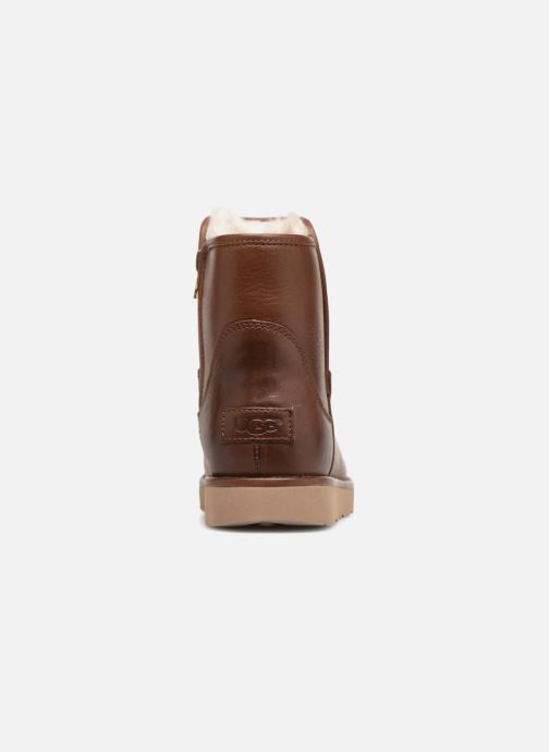 Botines  UGG W Abree Mini Leather Marrón vista lateral derecha