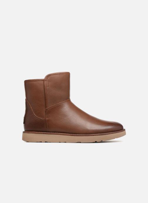 Botines  UGG W Abree Mini Leather Marrón vistra trasera