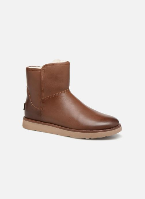 Bottines et boots UGG W Abree Mini Leather Marron vue détail/paire