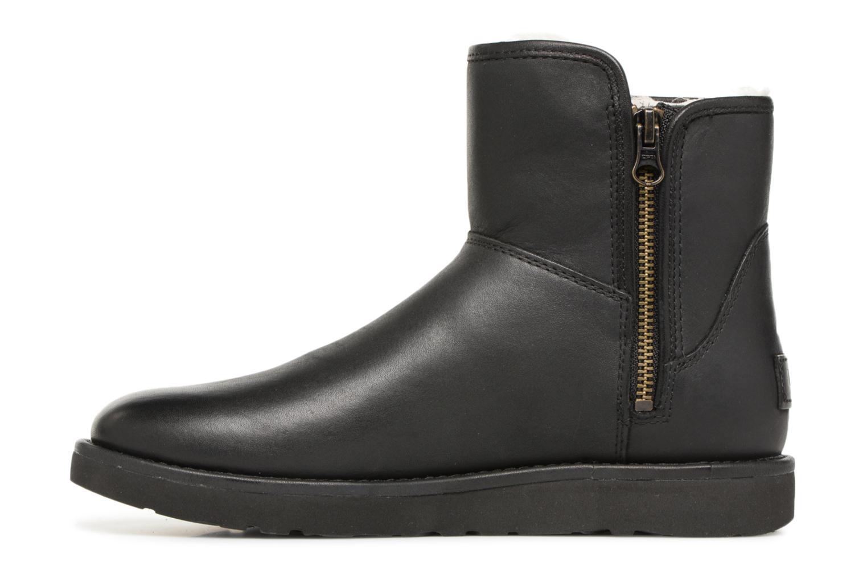 Bottes UGG W Abree Mini Leather Noir vue face