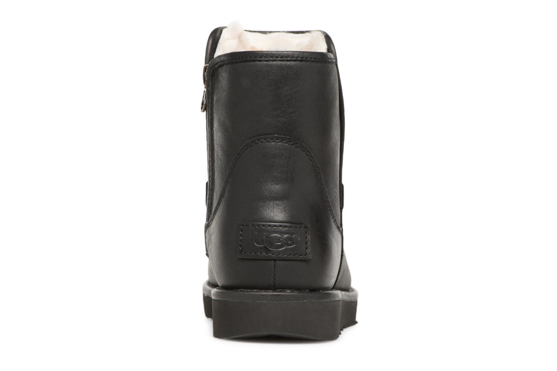 Bottes UGG W Abree Mini Leather Noir vue droite
