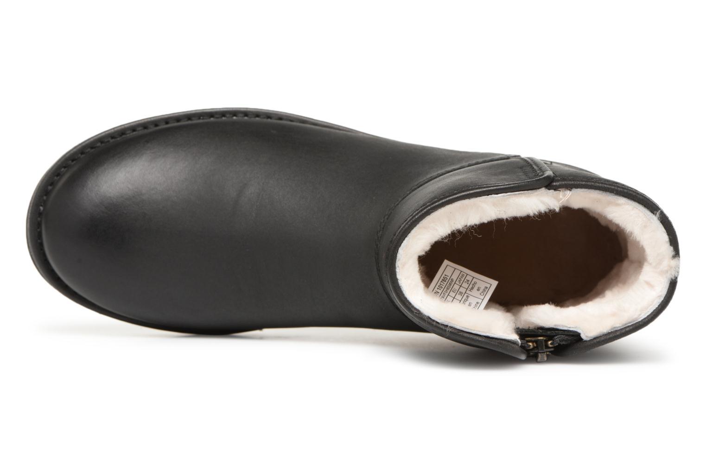 Bottes UGG W Abree Mini Leather Noir vue gauche