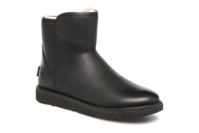 Bottes UGG W Abree Mini Leather Noir vue détail/paire