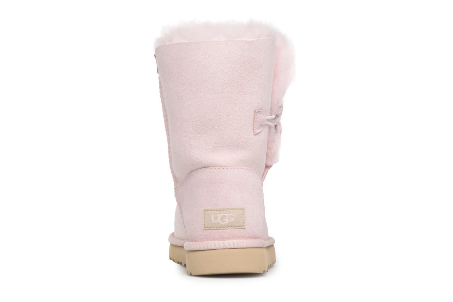 Bottes UGG Bailey Button Poppy Rose vue droite