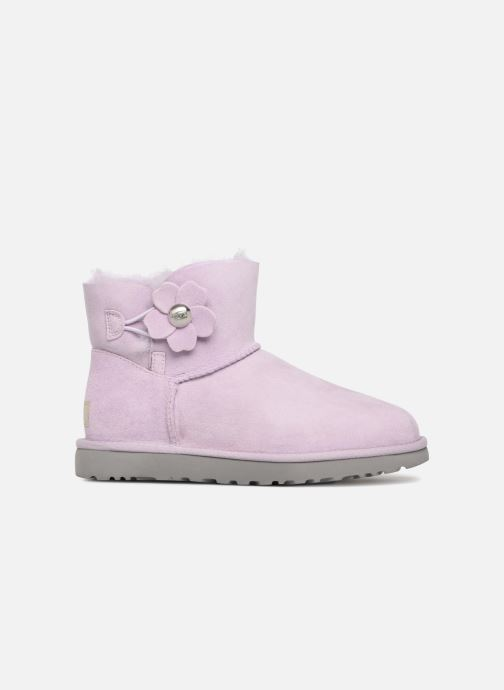 Bottines et boots UGG Mini Bailey Button Poppy Rose vue derrière