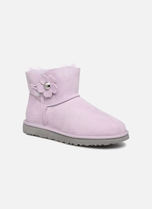 Bottines et boots UGG Mini Bailey Button Poppy Rose vue détail/paire