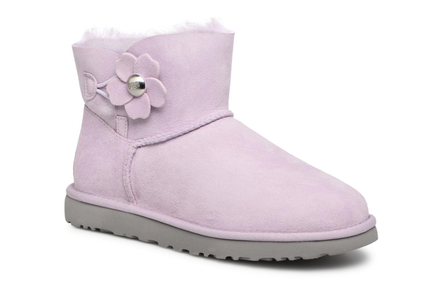 Chez Bailey Poppy Sarenza Ugg Button Mini rose Bottes 343685 1RnqnwvYx
