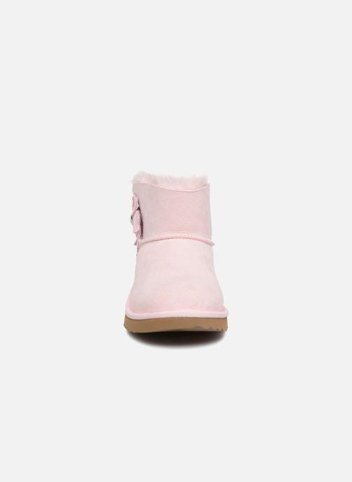 ffef51d827a UGG Mini Bailey Button Poppy (Pink) - Boots   wellies chez Sarenza ...
