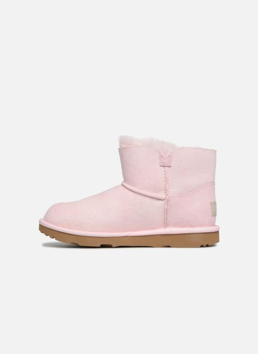 Bottes UGG Mini Bailey Button Poppy Rose vue face