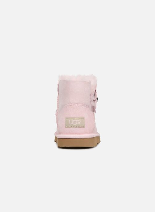 Bottes UGG Mini Bailey Button Poppy Rose vue droite