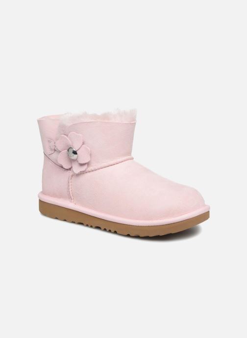 c4c7c723e2d Boots   wellies UGG Mini Bailey Button Poppy Pink detailed view  Pair view