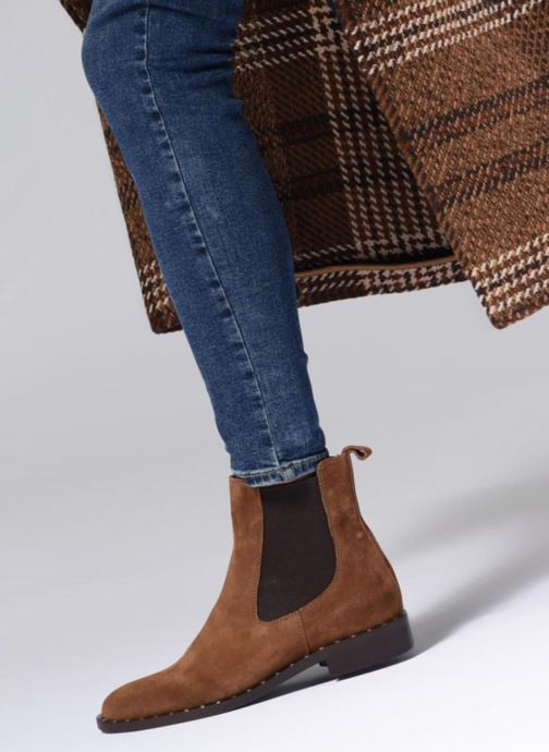Bottines et boots Notabene LEAH Marron vue bas / vue portée sac