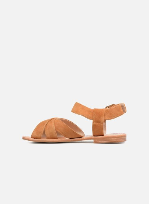 Sandales et nu-pieds Mellow Yellow DALINE Marron vue face