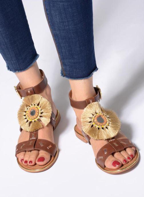 Sandales et nu-pieds Mellow Yellow DIVADIA Or et bronze vue bas / vue portée sac