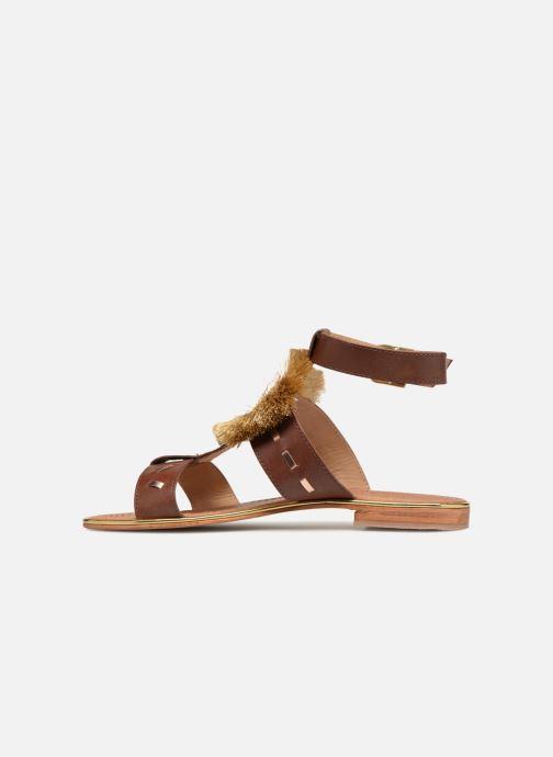 Sandales et nu-pieds Mellow Yellow DIVADIA Or et bronze vue face