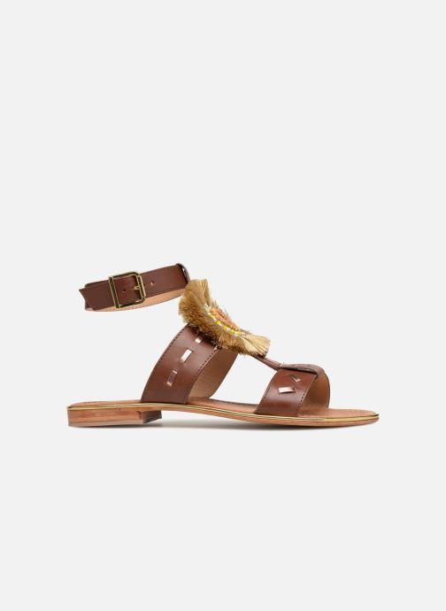 Sandales et nu-pieds Mellow Yellow DIVADIA Or et bronze vue derrière