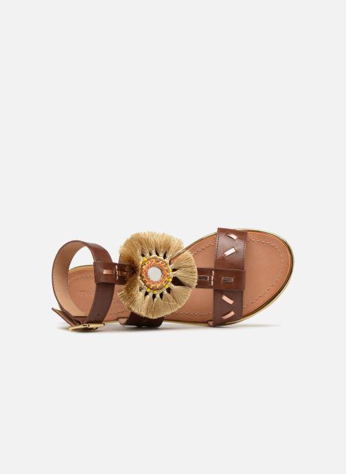Sandales et nu-pieds Mellow Yellow DIVADIA Or et bronze vue gauche