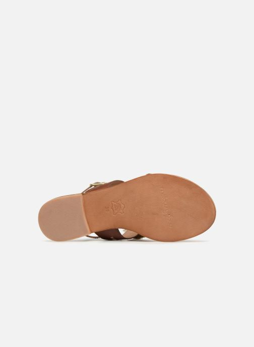 Sandales et nu-pieds Mellow Yellow DIVADIA Or et bronze vue haut