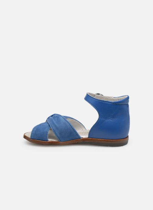Sandales et nu-pieds Little Mary Diana Bleu vue face