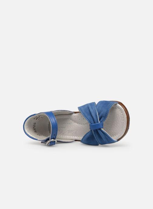 Sandales et nu-pieds Little Mary Diana Bleu vue gauche