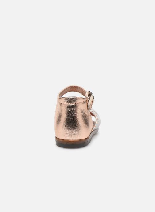 Sandales et nu-pieds Little Mary Diana Argent vue droite