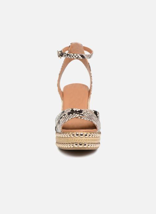 Espadrilles KG By Kurt Geiger AMELIA Gris vue portées chaussures