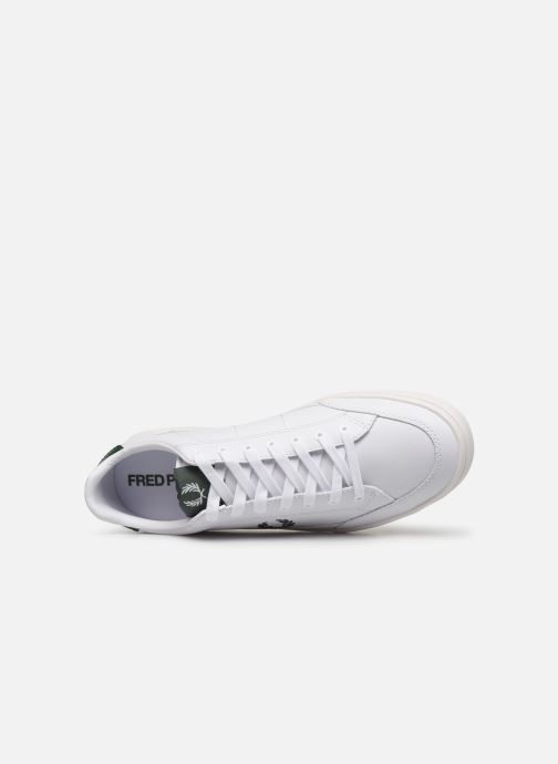 Baskets Fred Perry Deuce Leather Blanc vue gauche