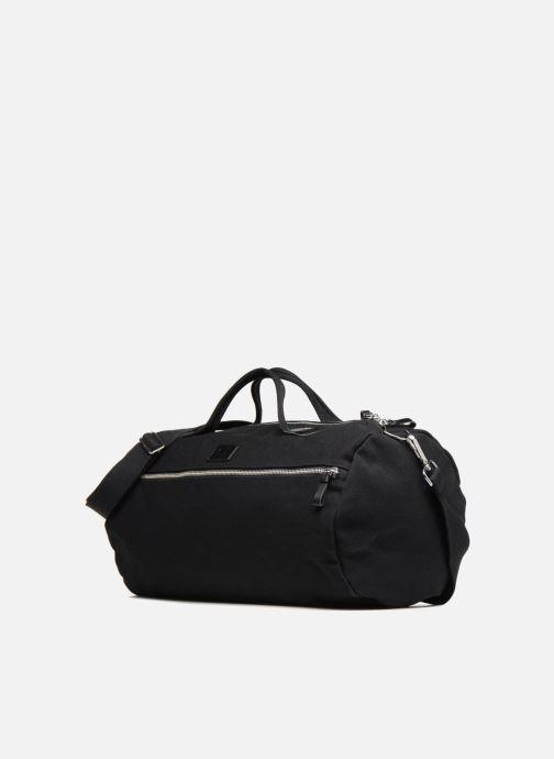 Sacs de sport Fred Perry Leather and Canvas Duffle Bag Noir vue portées chaussures