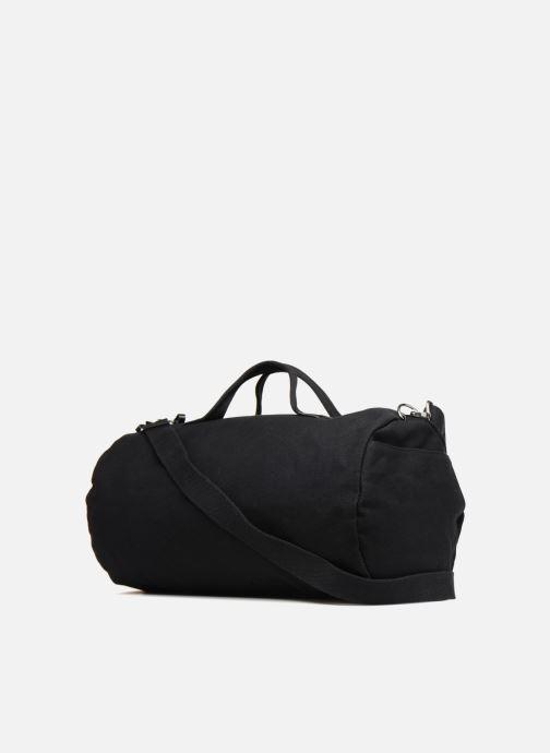 Sacs de sport Fred Perry Leather and Canvas Duffle Bag Noir vue droite