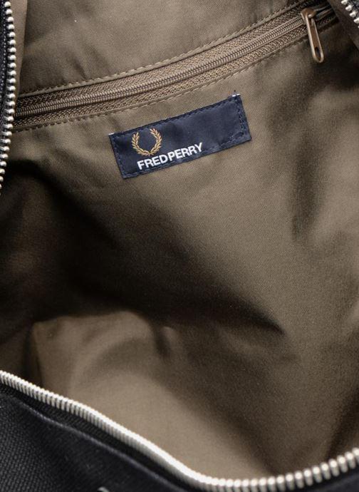 Sacs de sport Fred Perry Leather and Canvas Duffle Bag Noir vue derrière