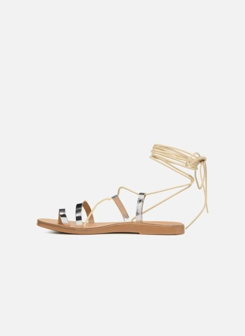 Sandals Pieces SANDALE METALLIC Silver front view