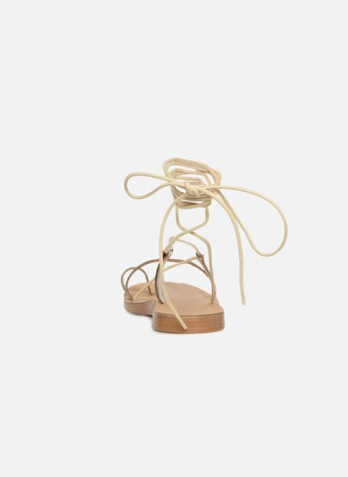 Sandals Pieces SANDALE METALLIC Silver view from the right