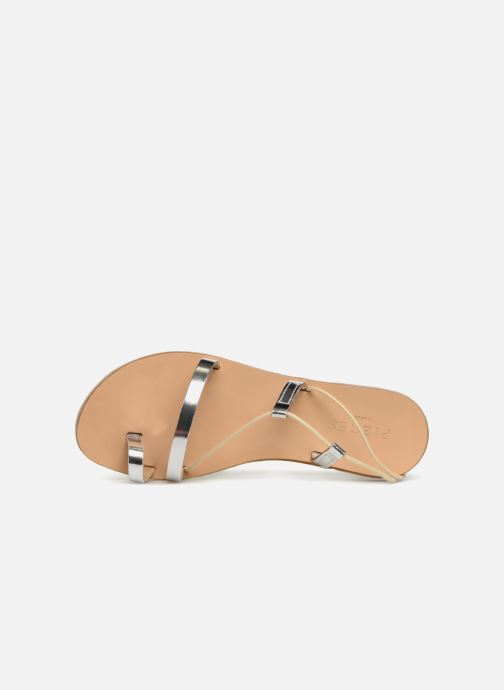 Sandals Pieces SANDALE METALLIC Silver view from the left