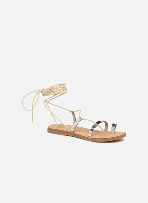 Sandals Pieces SANDALE METALLIC Silver detailed view/ Pair view
