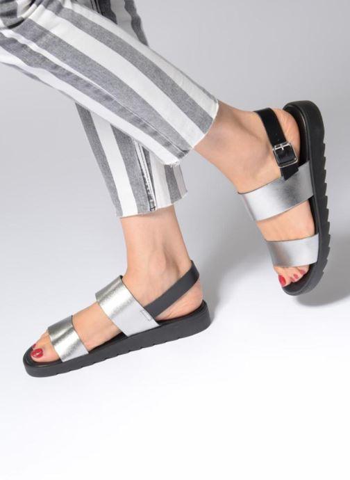 Sandales et nu-pieds Pieces LEATHER SANDAL Argent vue bas / vue portée sac