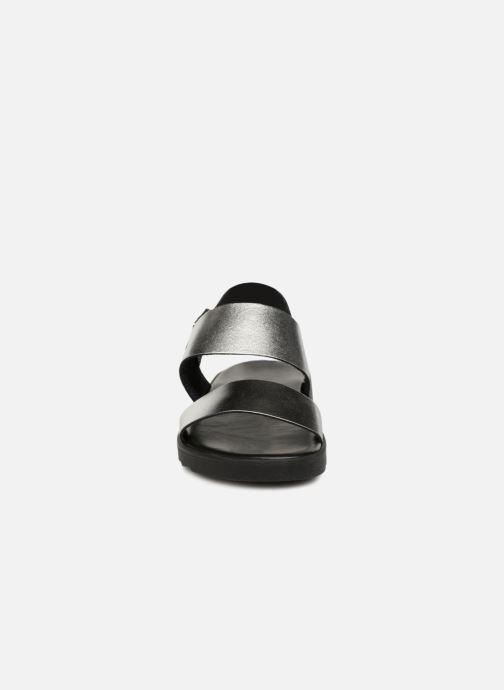 Sandales et nu-pieds Pieces LEATHER SANDAL Argent vue portées chaussures